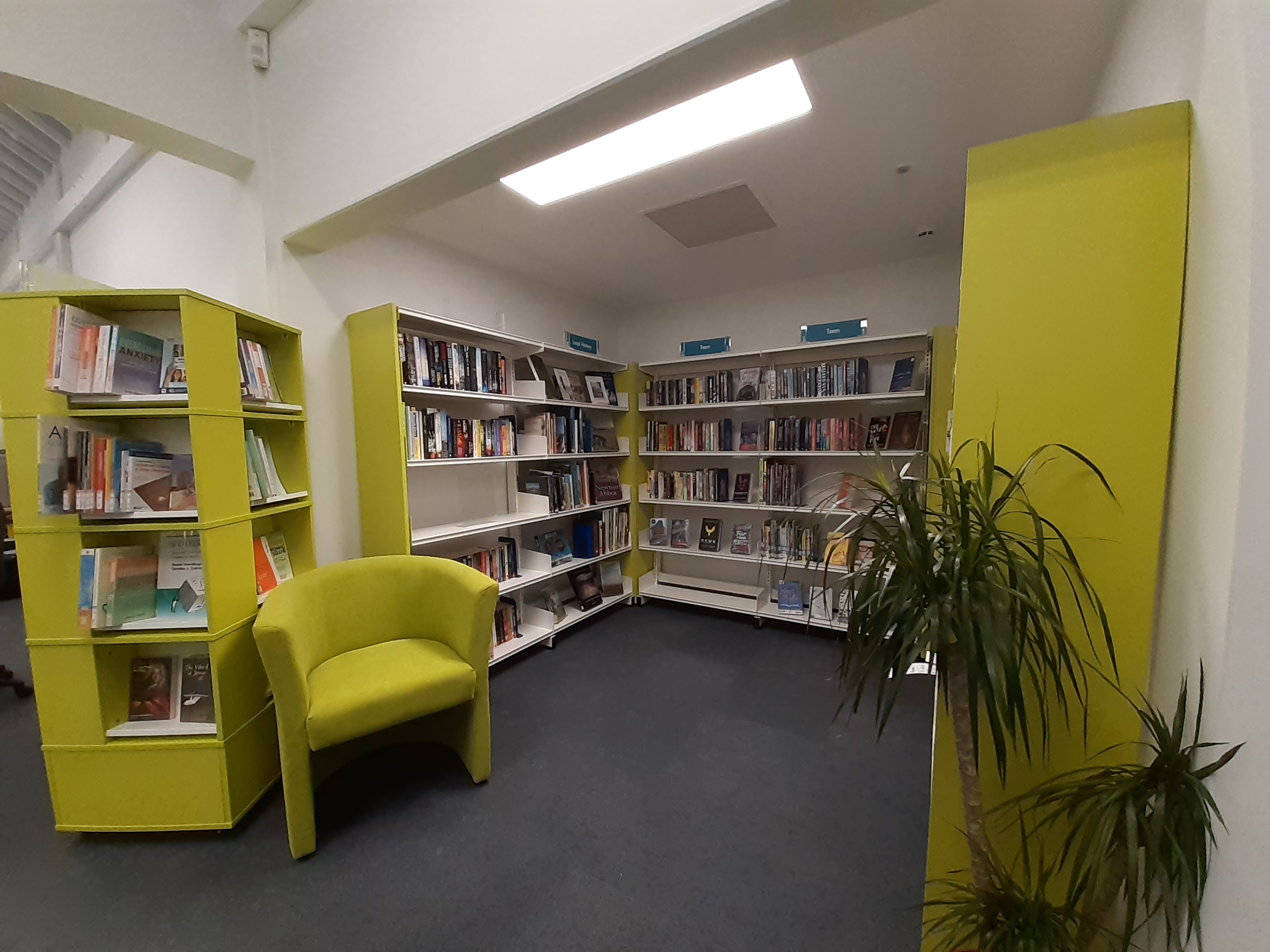 Inside Bovey Tracey Library