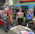 Dawlish Library Memory Cafe is an enjoyable social event for people who have memory problems and their carers. There is a welcoming atmosphere, friendly faces, tea and cake with some singing, games and often a craft activity. It normally takes place on the second Monday of each month.