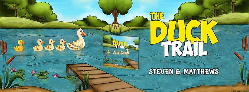 Author Steven Matthews is coming to Ottery Library to read his new story 'Duck Trail' alongside some fun activities - 'Hook a Duck' and 'Duck Skittles'.