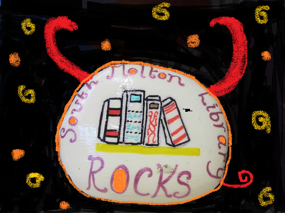 South Molton Rocks will be back in the library during half term - this time with glow in the dark paint for you make your Halloween rocks stand out. £1 a rock and no need to book.
