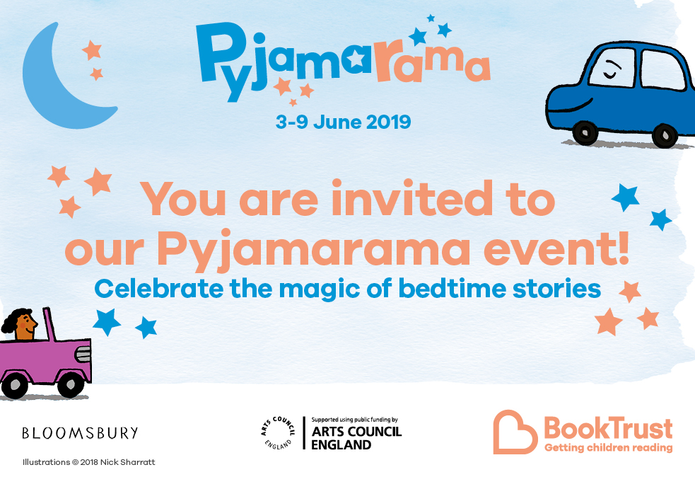 Celebrate the magic of bedtime stories by wearing your pyjamas to the library. We will be giving away a free copy of 'Car, Car, Truck, Jeep' to all children attending.