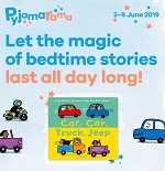 Join us for a Pyjamarama story time with free craft sheet, rhyme sheet and book 'Car, car, truck, jeep' !