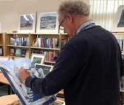 Drop in & meet Peter & have your portrait drawn by him for a donation to South Molton Library. Also here on Friday 20th September 9-4. Part of Art Trek Open Studios