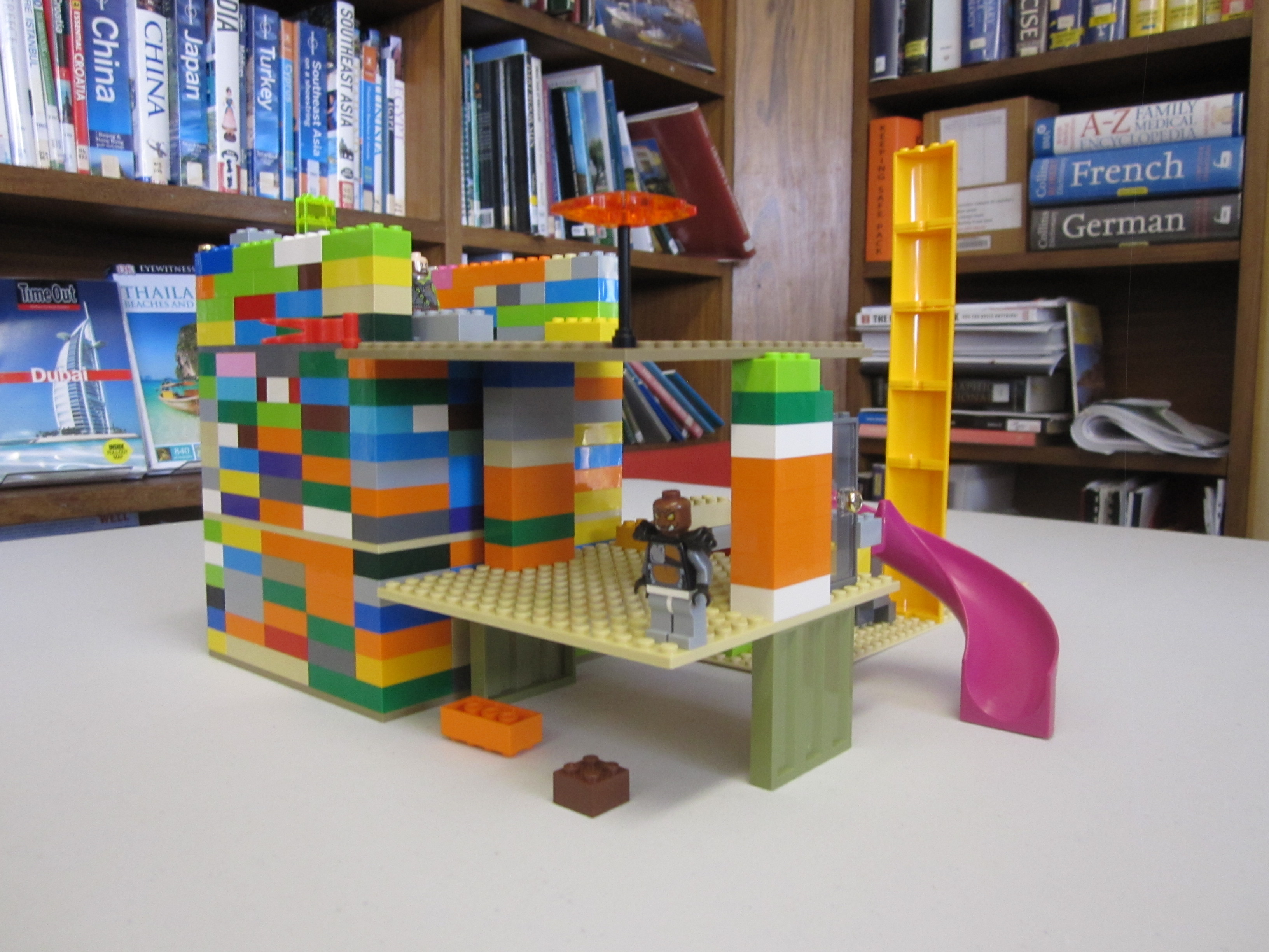 LEGO Table available to use in the library throughout the day. A wonderful way to create and build wonderful Lego creations.
