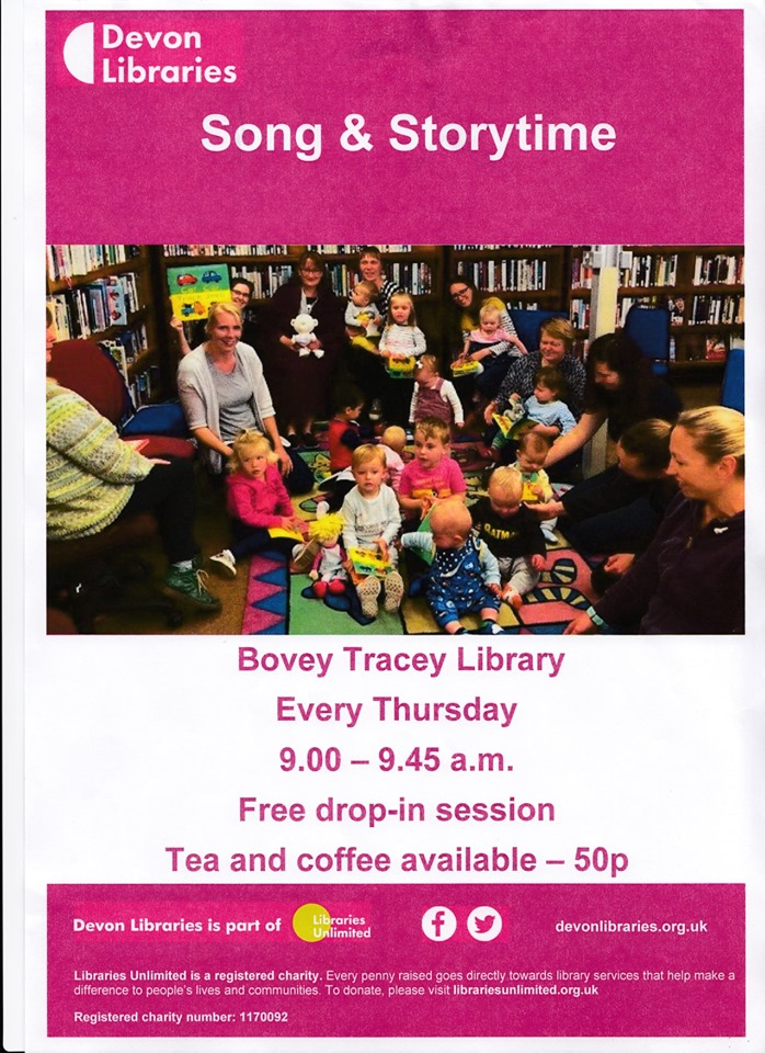 Songs & Stories for babies and toddlers. Open from 9am for tea/coffee
