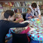 Storytime and craft activities for pre-school children and their carers. Come and join us for lots of fun listening to a story or two and then a simple craft activity – sticking, glueing and colouring. Fortnightly on a Monday 11.00am - 11.45am, just drop in, no need to book.