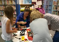Build a Lego creation to display in the library. We will chose a different theme each week for you to create your masterpiece.